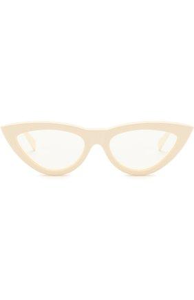 Женские солнцезащитные очки CELINE EYEWEAR белого цвета, арт. CL40019I 025 | Фото 3