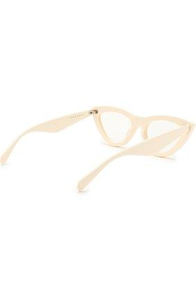 Женские солнцезащитные очки CELINE EYEWEAR белого цвета, арт. CL40019I 025 | Фото 4