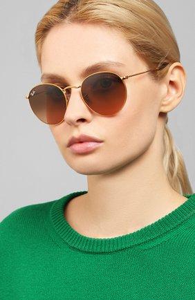 Женские солнцезащитные очки RAY-BAN коричневого цвета, арт. 3447-9001A5 | Фото 2