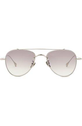 Солнцезащитные очки Frency&Mercury серебряные | Фото №1