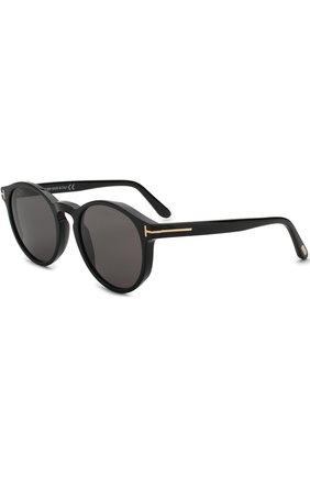 Мужские солнцезащитные очки TOM FORD черного цвета, арт. TF591 01A | Фото 1