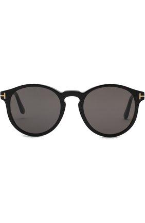 Мужские солнцезащитные очки TOM FORD черного цвета, арт. TF591 01A | Фото 2