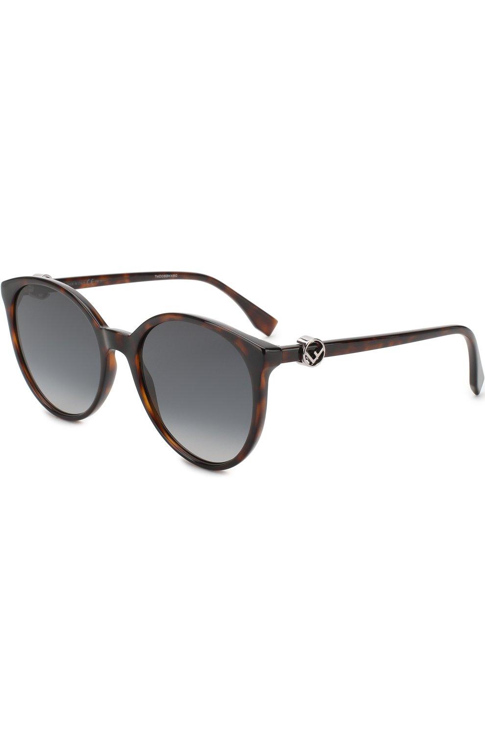 Женские солнцезащитные очки FENDI коричневого цвета, арт. 0288 086 | Фото 1