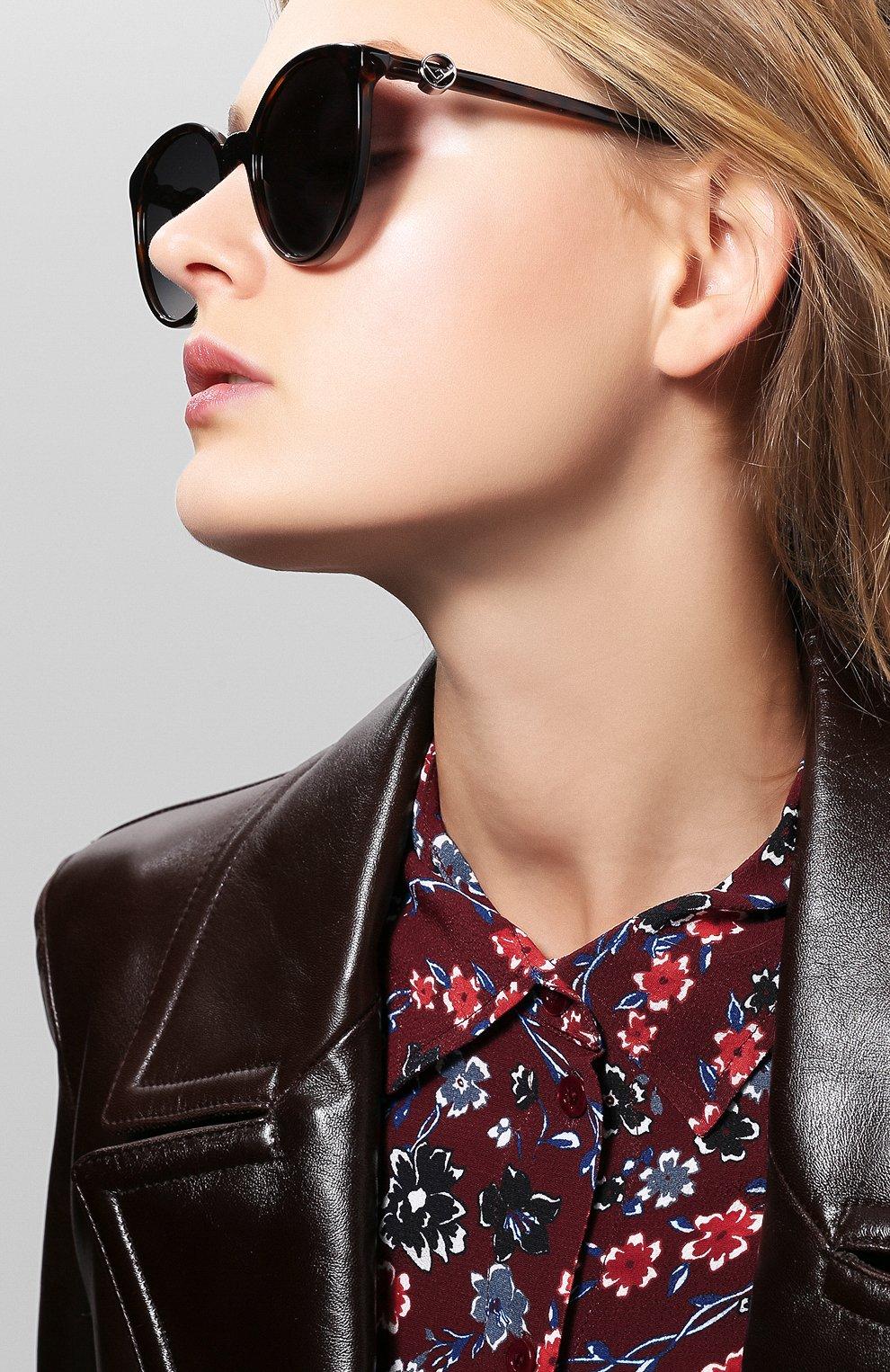 Женские солнцезащитные очки FENDI коричневого цвета, арт. 0288 086 | Фото 2
