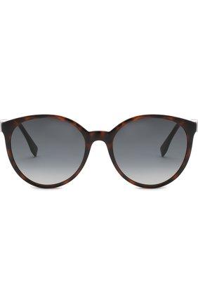 Женские солнцезащитные очки FENDI коричневого цвета, арт. 0288 086 | Фото 3