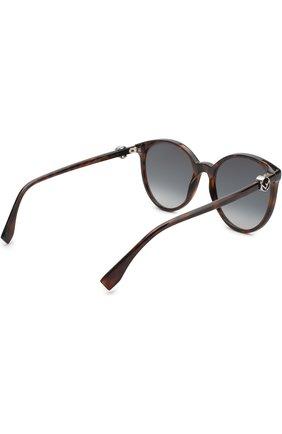 Женские солнцезащитные очки FENDI коричневого цвета, арт. 0288 086 | Фото 4
