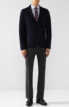 Однобортный шерстяной пиджак Harris Wharf London темно-синий | Фото №1