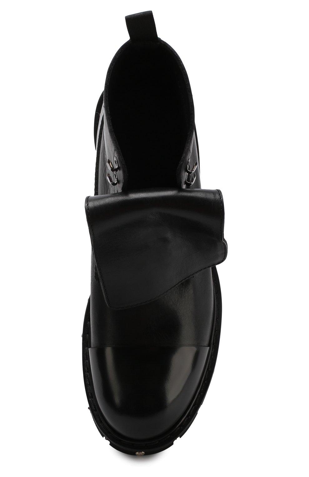 Высокие кожаные ботинки с отделкой   Фото №5