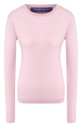 Женский кашемировый пуловер RALPH LAUREN розового цвета, арт. 290615194   Фото 1 (Рукава: Длинные; Длина (для топов): Стандартные; Материал внешний: Шерсть, Кашемир; Женское Кросс-КТ: Пуловер-одежда; Статус проверки: Проверена категория; Стили: Кэжуэл)