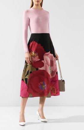 Женский кашемировый пуловер RALPH LAUREN розового цвета, арт. 290615194   Фото 2 (Рукава: Длинные; Длина (для топов): Стандартные; Материал внешний: Шерсть, Кашемир; Женское Кросс-КТ: Пуловер-одежда; Статус проверки: Проверена категория; Стили: Кэжуэл)