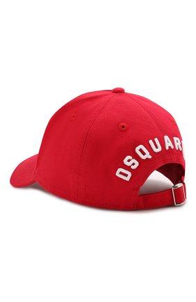Мужской хлопковая бейсболка icon DSQUARED2 красного цвета, арт. BCM4001 05C00001 | Фото 2