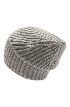 Мужская кашемировая шапка LORO PIANA серого цвета, арт. FAI3766 | Фото 2