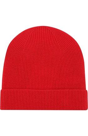 Шерстяная шапка с нашивкой Kenzo красного цвета | Фото №2