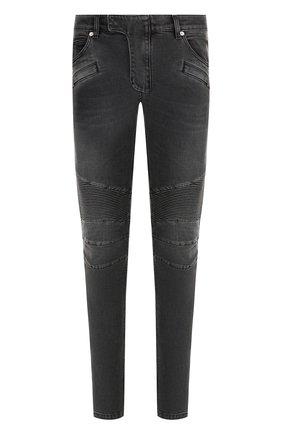 Зауженные джинсы с отделкой | Фото №1