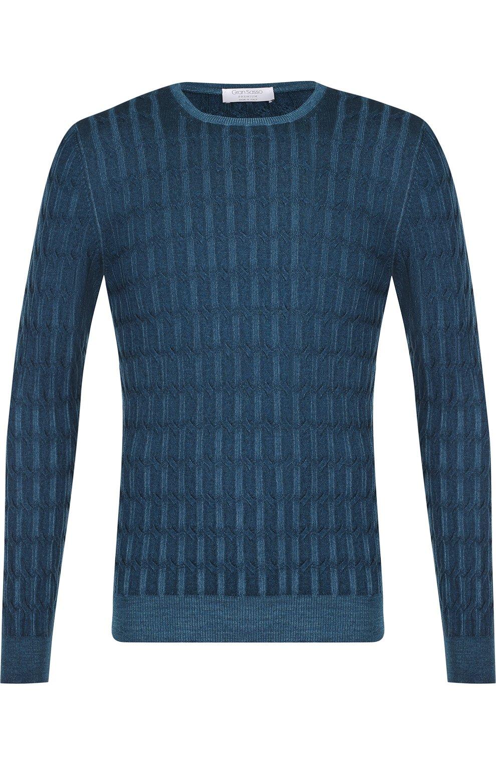 Джемпер из шерсти фактурной вязки | Фото №1