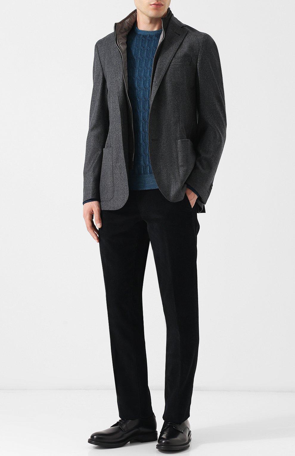Джемпер из шерсти фактурной вязки | Фото №2