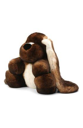 Мужского игрушка собака с меховой отделкой LORO PIANA коричневого цвета, арт. FAE1471 | Фото 2