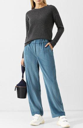 Кашемировый пуловер с круглым вырезом FTC темно-серый   Фото №1
