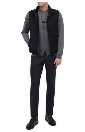 Мужские кожаные кеды DOUCAL'S темно-синего цвета, арт. DU1773GENTPM021NB02 | Фото 2