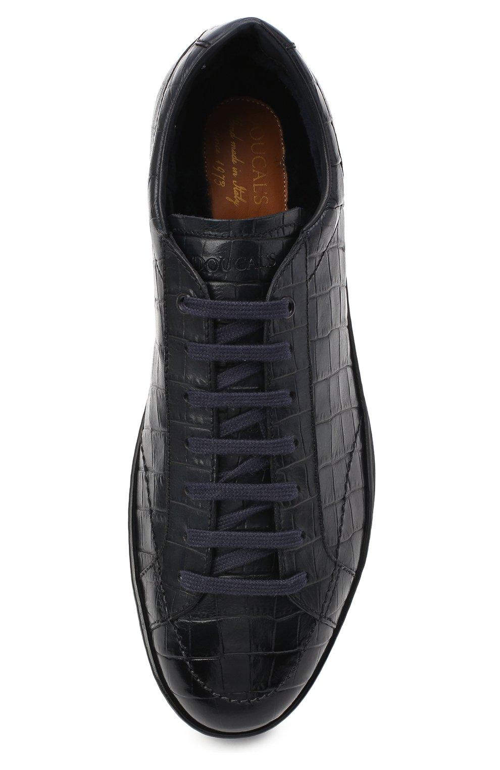 Мужские кожаные кеды DOUCAL'S темно-синего цвета, арт. DU1773GENTPM021NB02 | Фото 5