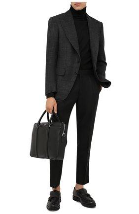 Мужская кожаная сумка для ноутбука BOSS черного цвета, арт. 50390902 | Фото 2