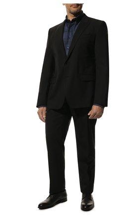 Мужской шерстяной костюм DOLCE & GABBANA черного цвета, арт. GK0RMT/FUBEC | Фото 1 (Материал внешний: Шерсть; Статус проверки: Проверена категория; Рукава: Длинные; Материал подклада: Шелк; Костюмы М: Однобортный; Стили: Классический)
