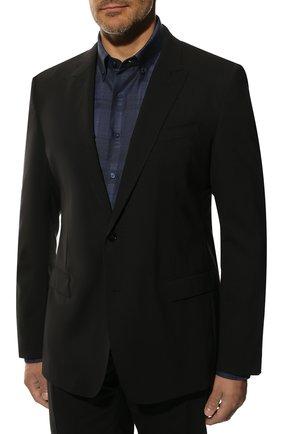 Мужской шерстяной костюм DOLCE & GABBANA черного цвета, арт. GK0RMT/FUBEC | Фото 2