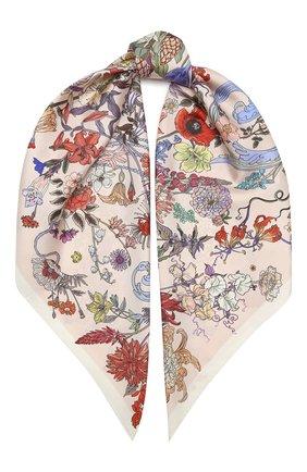 Женский шелковый платок 100 flowers RADICAL CHIC розового цвета, арт. 402653.21.09   Фото 1