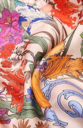 Женский шелковый платок 100 flowers RADICAL CHIC розового цвета, арт. 402653.21.09   Фото 2