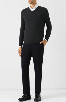 Мужской шерстяной пуловер POLO RALPH LAUREN темно-серого цвета, арт. 710714347 | Фото 2