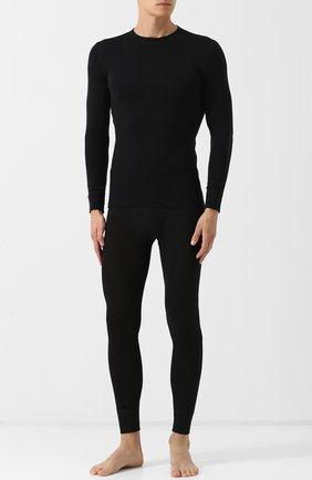 Мужские шерстяные кальсоны NORVEG черного цвета, арт. 19WSM003 | Фото 2