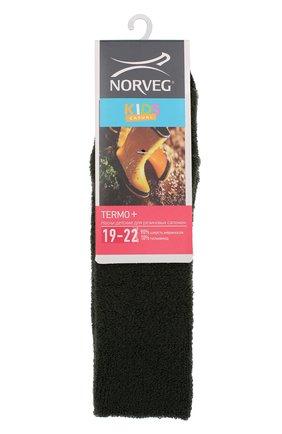 Детские термоноски thermo+ Norveg зеленого цвета | Фото №1