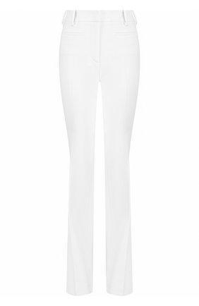 Женские шерстяные расклешенные брюки со стрелками TOM FORD белого цвета, арт. PAW159-FAX431 | Фото 1 (Длина (брюки, джинсы): Удлиненные; Материал внешний: Шерсть; Статус проверки: Проверено, Проверена категория; Женское Кросс-КТ: Брюки-одежда)