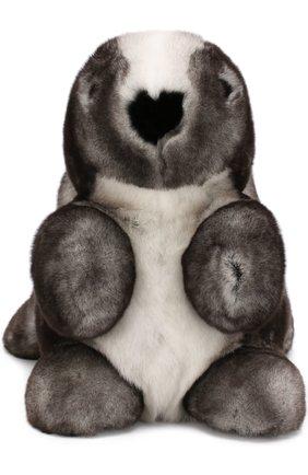 Мужского игрушка кролик с меховой отделкой LORO PIANA серого цвета, арт. FAE8597 | Фото 1