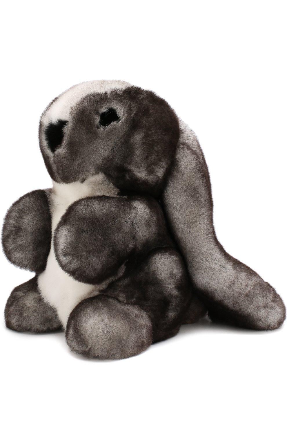 Мужского игрушка кролик с меховой отделкой LORO PIANA серого цвета, арт. FAE8597   Фото 2