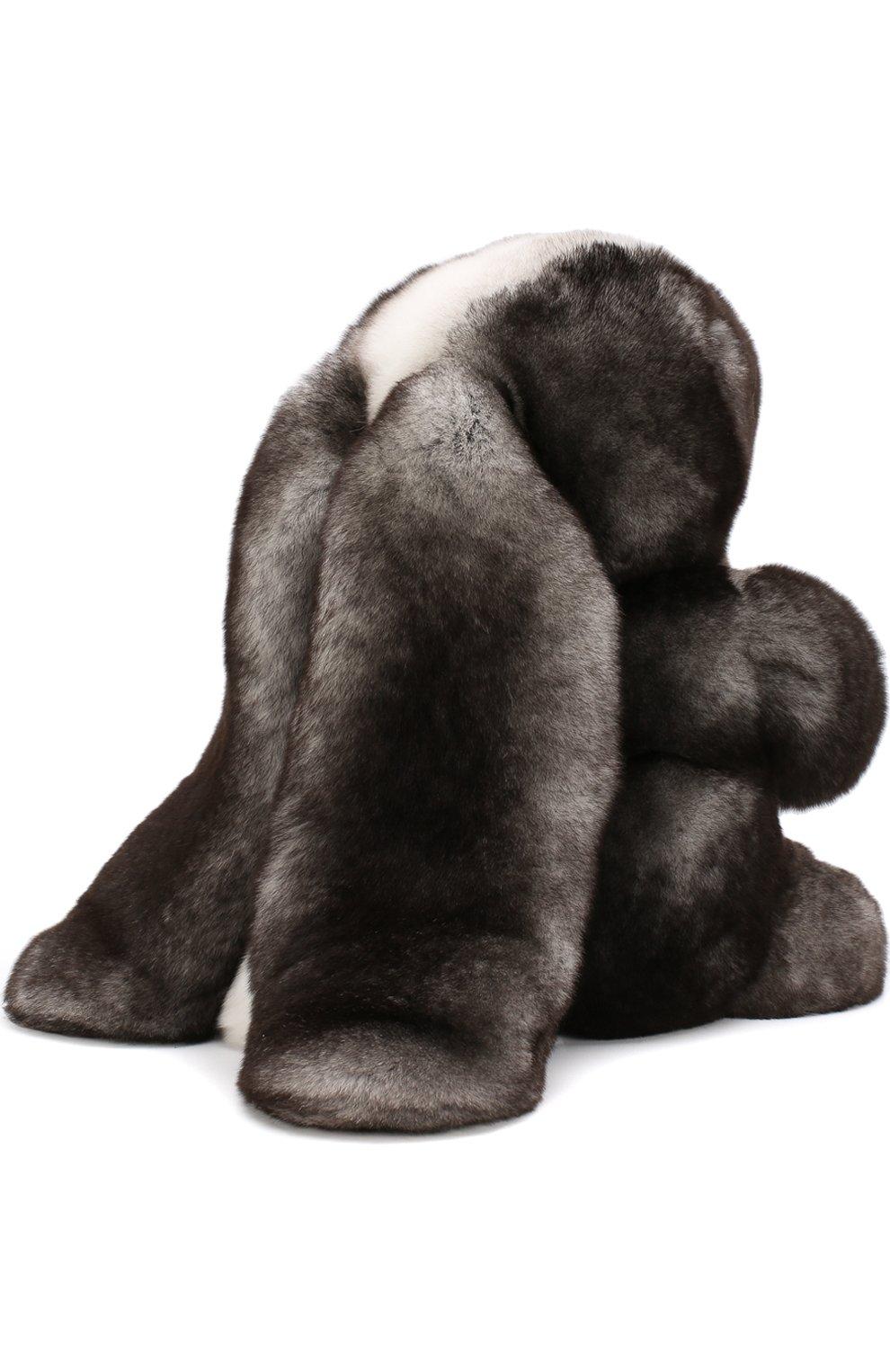Мужского игрушка кролик с меховой отделкой LORO PIANA серого цвета, арт. FAE8597   Фото 3
