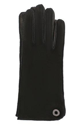 Женские перчатки jacqueline из кожи и замши LORO PIANA черного цвета, арт. FAF8575 | Фото 1 (Материал: Кожа, Замша; Статус проверки: Проверено, Проверена категория)