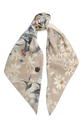 Женский шелковый платок borzoi florale RADICAL CHIC бежевого цвета, арт. 2068.25.02.HH   Фото 1