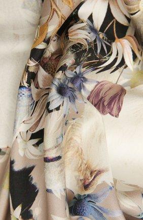 Женский шелковый платок borzoi florale RADICAL CHIC бежевого цвета, арт. 2068.25.02.HH   Фото 2