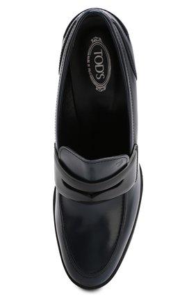 Кожаные туфли на устойчивом каблуке и платформе | Фото №5