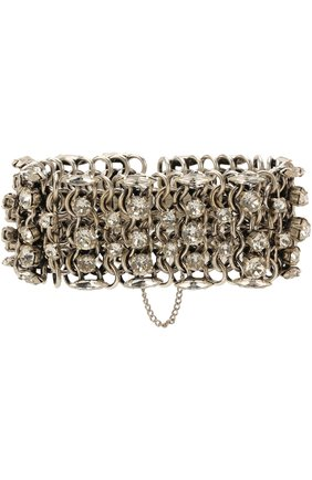 Женский браслет с отделкой кристаллами SAINT LAURENT серебряного цвета, арт. 513417/Y1526 | Фото 1