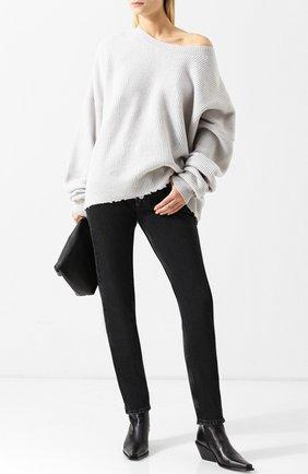 Вязаный пуловер из смеси шерсти и кашемира Ben Taverniti Unravel Project светло-серый | Фото №1