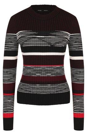 Вязаный пуловер из смеси шерсти и шелка с кашемиром | Фото №1