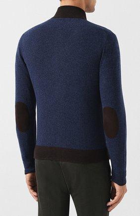 Мужской кардиган из шерсти и кашемира GRAN SASSO синего цвета, арт. 55106/19669   Фото 4