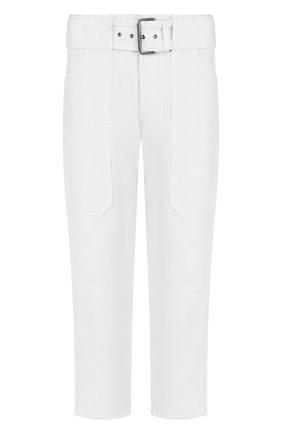 Укороченные джинсы прямого кроя с поясом