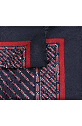 Шелковый платок с принтом Zilli бордовый | Фото №1