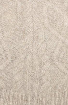 Шапка из смеси шерсти и кашемира Pringle Of Scotland светло-серого цвета | Фото №2
