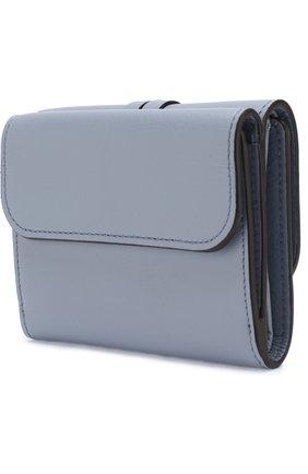 Кожаный кошелек Alphabet Chloé голубого цвета | Фото №2