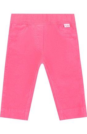 Хлопковые брюки с эластичным поясом Il Gufo фуксия цвета | Фото №1