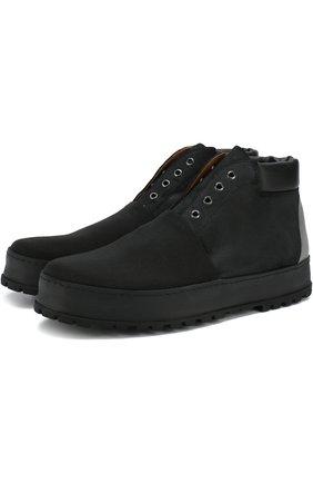 Мужские высокие ботинки из нубука PREMIATA черного цвета, арт. 31163/ANDER | Фото 1